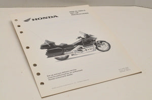2004 GL1800 GL1800A GENUINE Honda Factory SETUP INSTRUCTIONS PDI MANUAL S0213