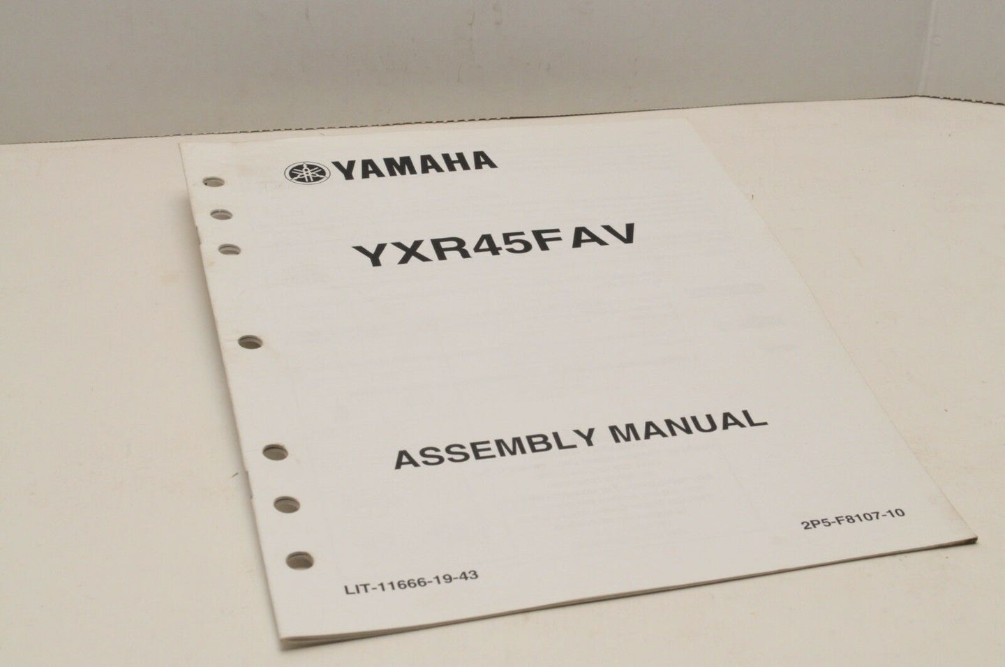 Genuine Yamaha ASSEMBLY SETUP MANUAL YXR45FAV RHINO 450 2006 LIT-11666-19-43