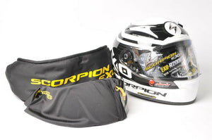 NEW Scorpion EXO-R2000 Motorcycle Helmet White/Black DOT/SNELL 2XL 200-7637