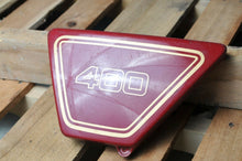 Load image into Gallery viewer, GENUINE YAMAHA SIDE COVER LEFT XS400 XS 400 1977 1L9-21711-00-63 CARMINE RED