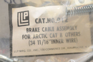 "NEW/NOS LLP VINTAGE CABLE, BRAKE #912 for ARCTIC CAT 34 11/16"" WIRE"