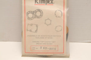 NOS Kimpex Top End Gasket Set T09-8086 / 712086 - Skidoo TNT 340 rotax FA 73-78