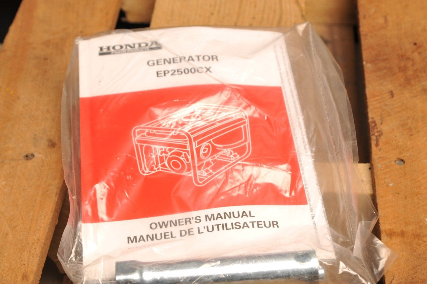 GENUINE HONDA OWNER'S MANUAL GENERATOR EP2500CX ENGLISH/FRENCH + TOOL!