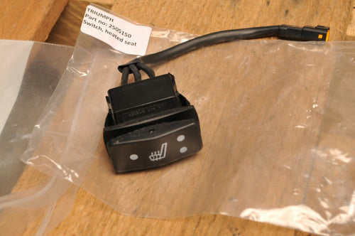 NOS OEM TRIUMPH T2505150 SWITCH, HEATED SEAT - TIGER EXPLORER TROPHY 1215 ++