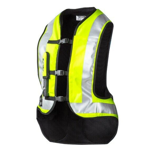 Helite Turtle Airbag Vest - Motorcycle Safety - Hi-Viz High Visibility Yellow SM