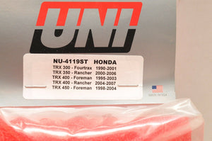 1990-2000 Honda Trx300 Fourtrax 300 2x4 4x4 Uni Air Filter Made In Usa Nu-4119st
