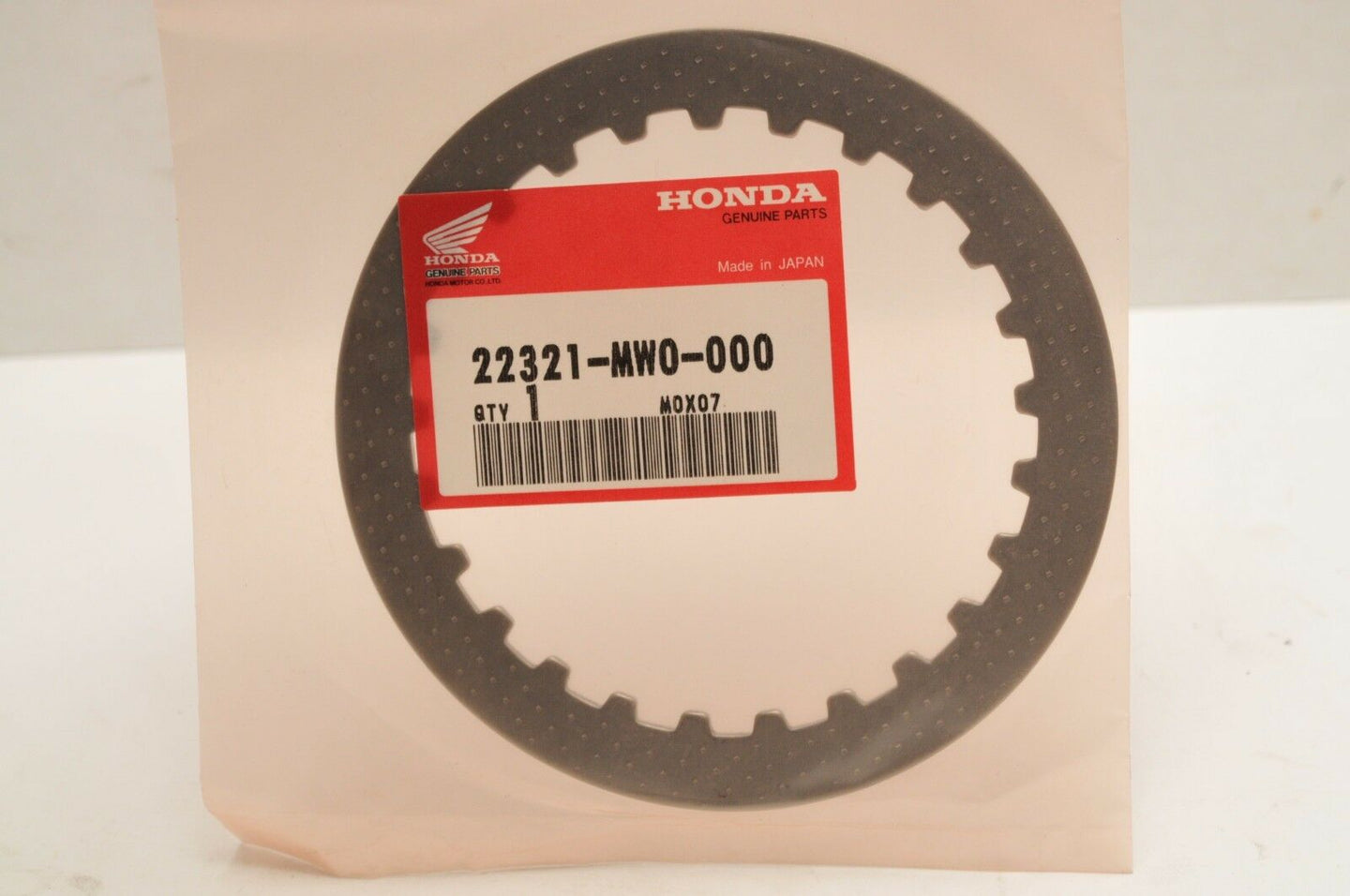 NEW NOS OEM HONDA CLUTCH PLATE 22321-MW0-000 CBR900RR CBR900RE 1993-2003