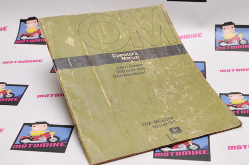 Genuine OEM JOHN DEERE OPERATORS MANUAL 300 400 OM-M66064 D5