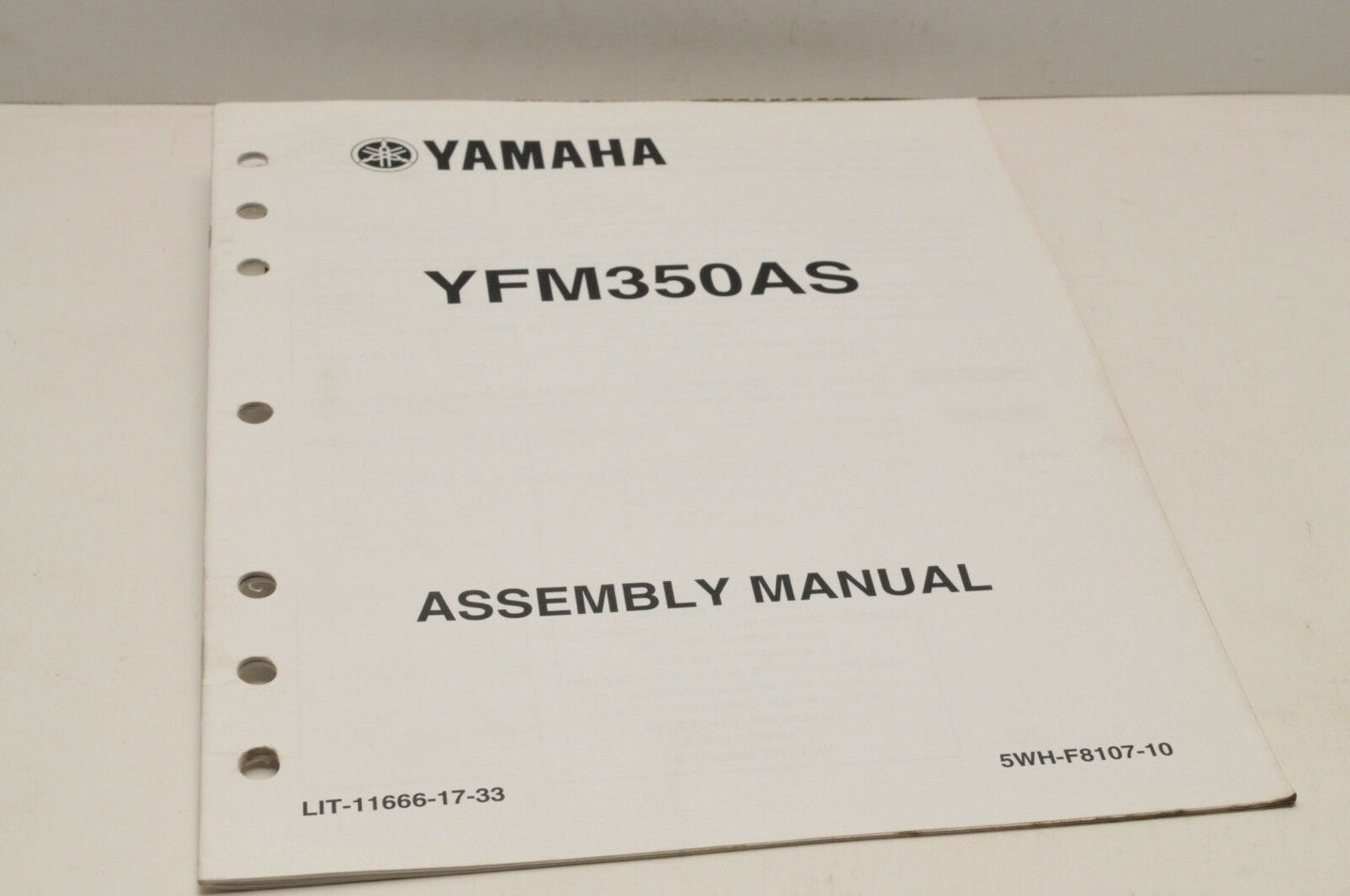 Genuine Yamaha ASSEMBLY SETUP MANUAL YFM350AS BRUIN 350 2004 LIT-11666-17-33