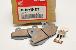 NEW NOS OEM HONDA 451A0-KR3-603 BRAKE PAD SET CMX250 REBEL 250