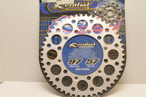 RENTHAL 51-13 SPROCKET KIT YAMAHA YZ400/426 1999-2000 FRONT AND REAR