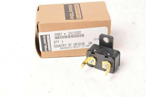 Genuine Polaris 2411592 Circuit Breaker 12A Amp - Rush Pro R Ride INDY Sw/Bk ++