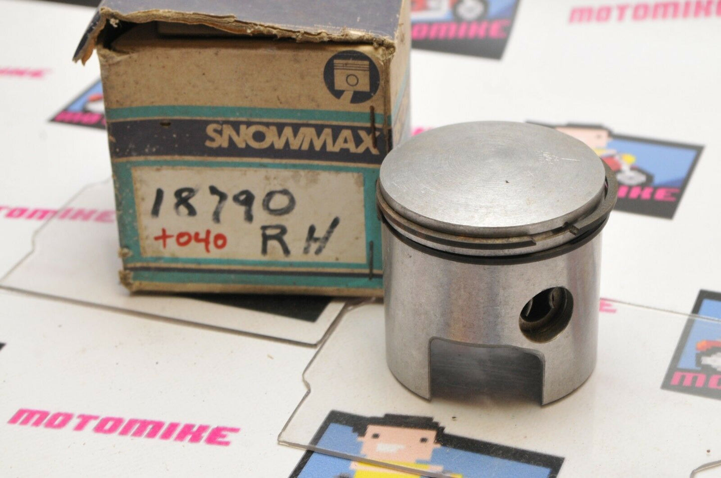 NOS New Old Stock SNOWMAX PISTON 18790 +40 ROTAX RH R RIGHT 64.5mm +.040 OVER