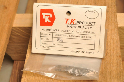 TK PRODUCT 25H x10 Pcs -- CONNECTING / MASTER / OFFSET LINK FOR TIMING CHAIN