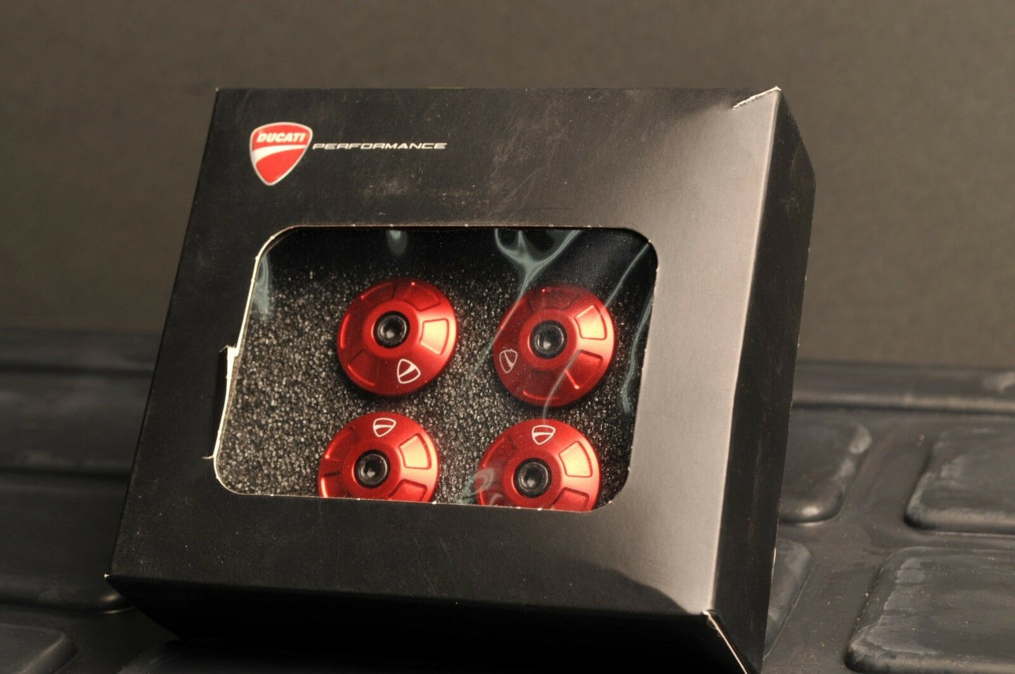 GENUINE DUCATI 97380781A PERFORMANCE MONSTER 797 FRAME PLUGS CAPS RIVETS RED SET