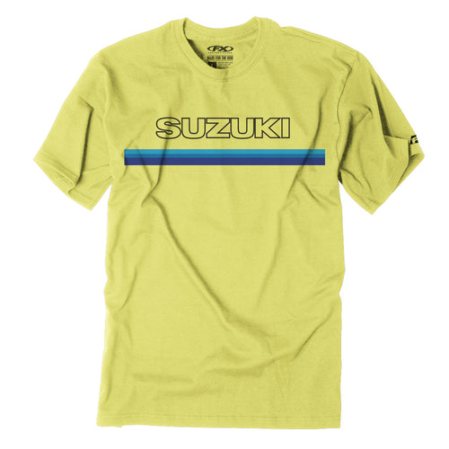 Suzuki Official Throwback Stripe Logo T-Shirt