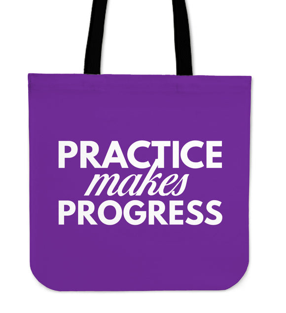 Practice Makes Progress Tote