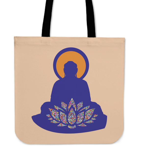 Buddha Lotus Tote Bag