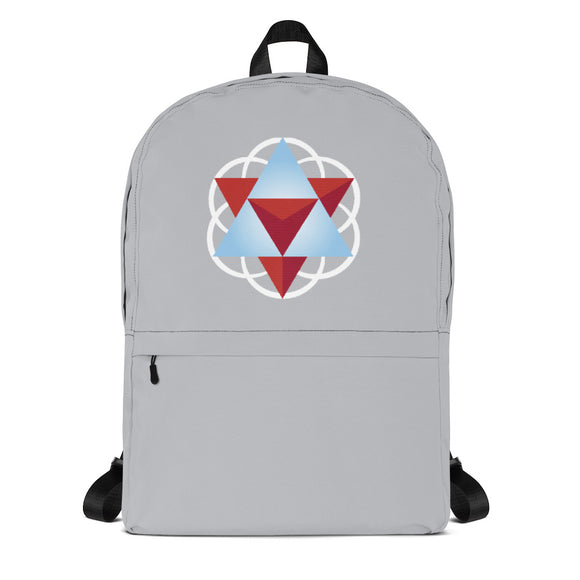 Prana Das Sacred Geometry Unisex Backpack with Laptop Pocket