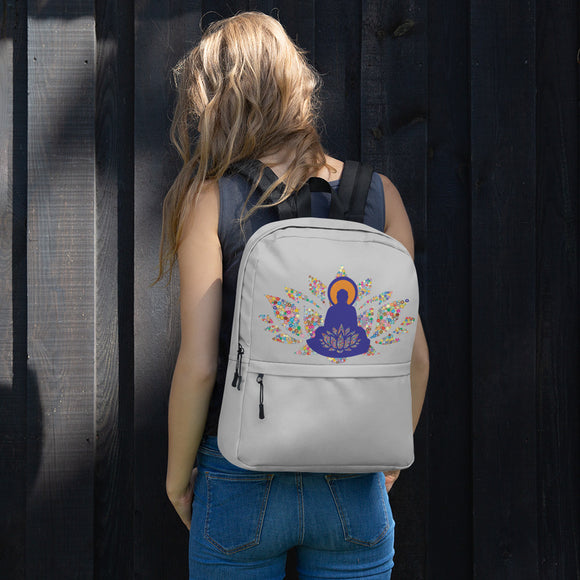 Buddha Lotus Casual Life Backpack with Laptop Pocket