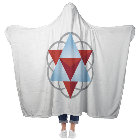 Sacred Geometry Hooded Blanket