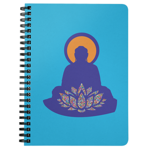 Buddha Lotus Spiral Bound Journal