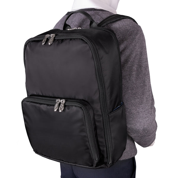 "McKlein Transporter Vegan 15"" Nylon Dual-Compartment, Laptop & Tablet Backpack"