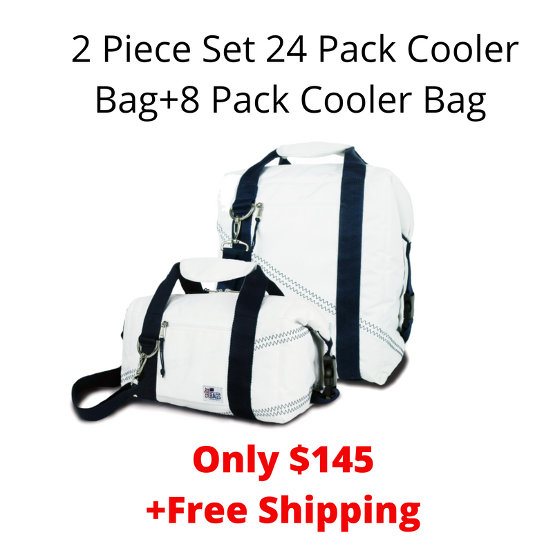 SailorBags Coolest Of All 2 Piece Set 24 Pack Cooler Bag+8 Pack Cooler Bag