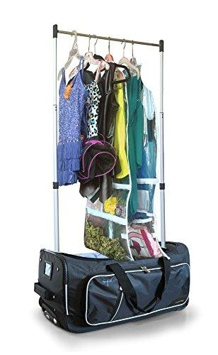 "Travolution 23"" Convertible Wheeled Duffel with Garment Rack - Strong Suitcases-Vegan Luggage"