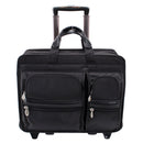 "McKlein CLINTON 17"" Nylon Patented Detachable -Wheeled Laptop Briefcase"