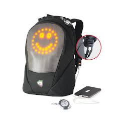 Mia Toro ITALY Digimotions SMART LED Animated Lights Digital Emoji Backpack - Strong Suitcases-Vegan Luggage