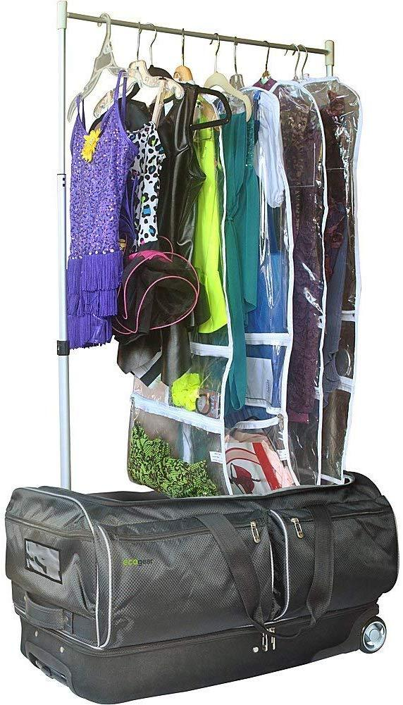 "Bundle Offer Ecogear 28"" Wheeled Duffel with Garment Rack+Backpack+Water Bottle"