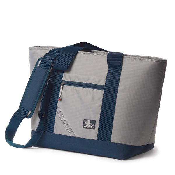 SailorBags Silver Spinnaker Vegan Cooler Tote
