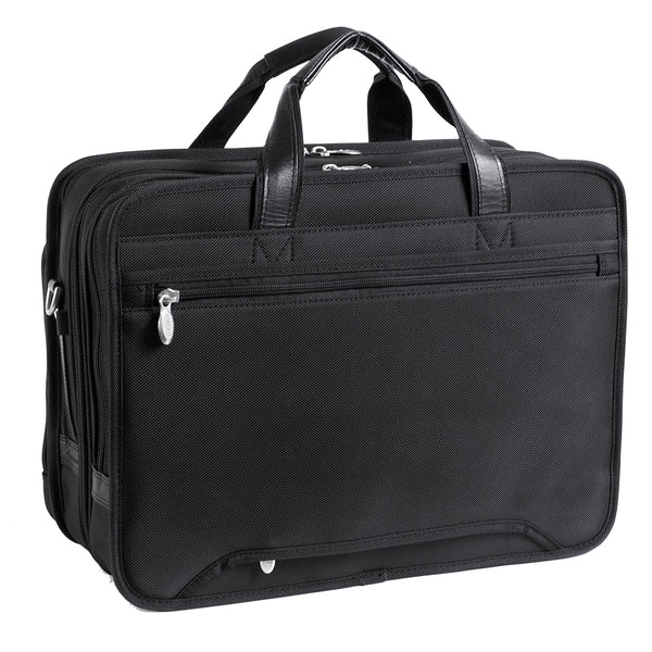 "McKlein WALTON 17"" Nylon Expandable Double Compartment Laptop Briefcase w/ Removable Sleeve"