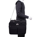 "McKlein ROOSEVELT 17"" Nylon Patented Unisex Detachable 2-in-1 Wheeled Laptop Briefcase w/ Removable Sleeve"