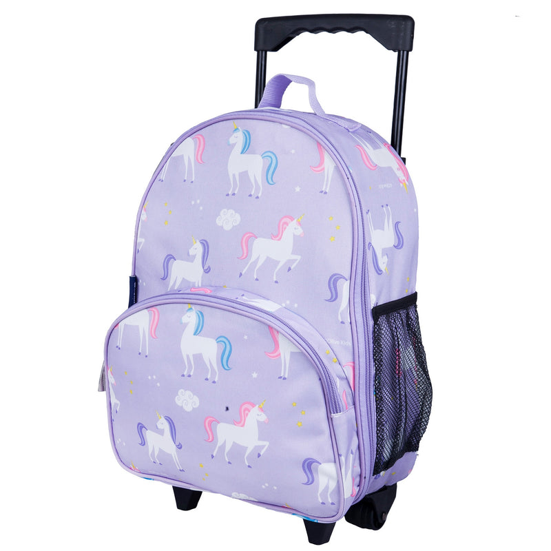 "Wildkin Kids Rolling Luggage Under-seat Carry-on 16"" Age: 3-10 - Strong Suitcases-Vegan Luggage"