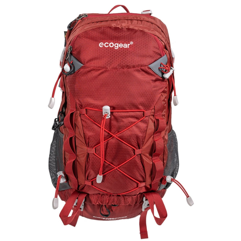Ecogear Snow Leopard 40L Hiking Backpack Rain Cover Included+Free Bottle - Strong Suitcases-Vegan Luggage