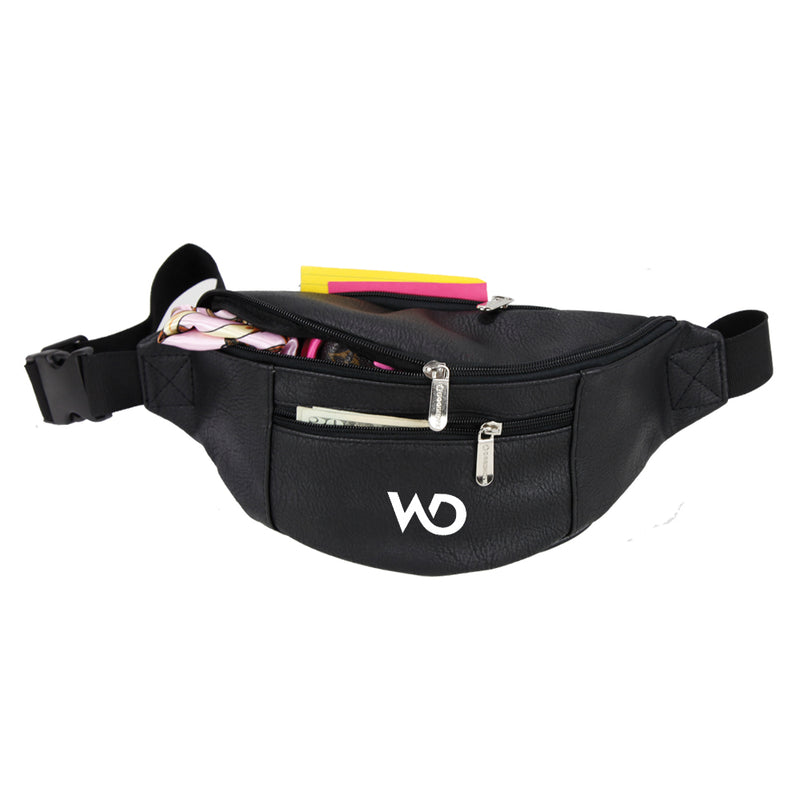 Goodhope Bags Vegan Leather Unisex Zip Fanny Pack - Strong Suitcases-Vegan Luggage