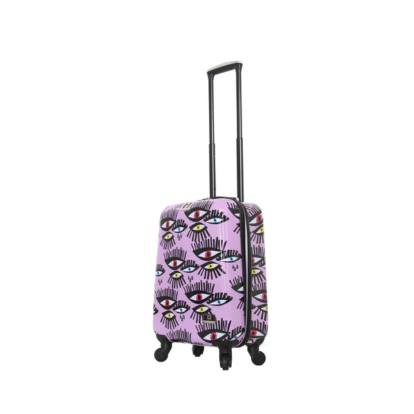 "Halina Bouffants & Broken Hearts Bold Eyes 20"" Spinner Carry on Suitcase - Strong Suitcases-Vegan Luggage"