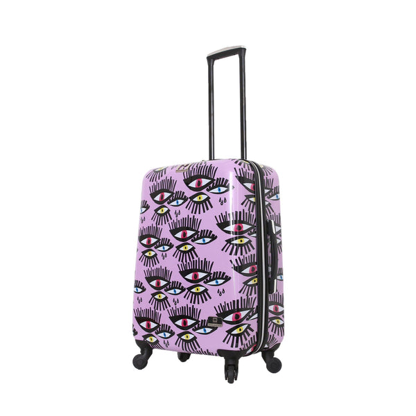 "Halina Bouffants & Broken Hearts Bold Eyes 28"" Spinner Carry on Suitcase - Strong Suitcases-Vegan Luggage"