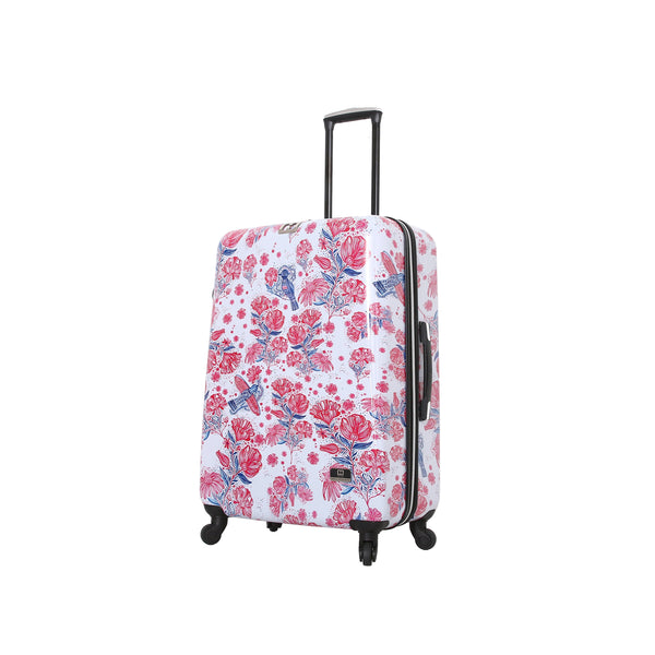 "Halina Car Pintos FLY 20""/24""/28"" Carry On Floral Spinner Luggage - Strong Suitcases-Vegan Luggage"