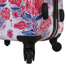 Halina Car Pintos 3 Piece Luggage Set Carry On Floral Spinner Luggage Set - Strong Suitcases-Vegan Luggage