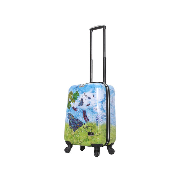 "Halina Bee Sturgis FLY DREAM 20"" Butterfly Carry On Luggage - Strong Suitcases-Vegan Luggage"