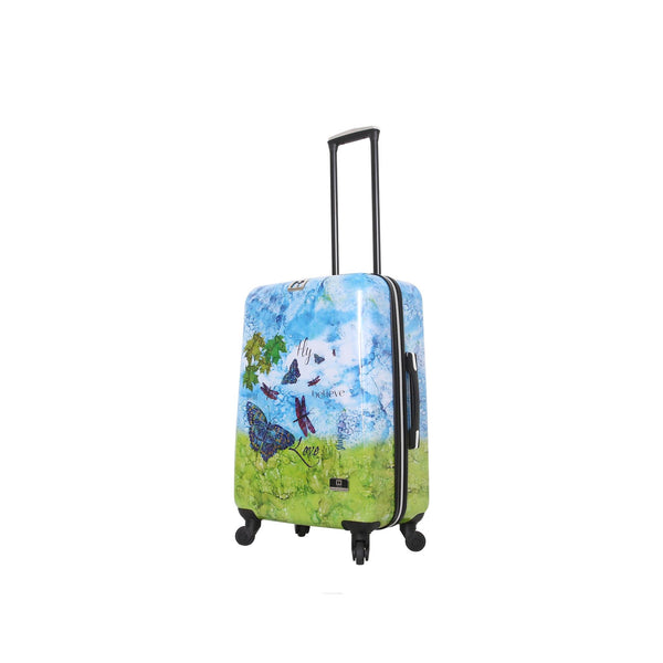 "Halina Bee Sturgis Fly Dream 24"" Spinner Suitcase - Strong Suitcases-Vegan Luggage"