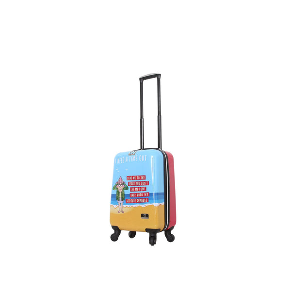 "Halina Aunty Acid Trip 20"" Spinner Suitcase - Strong Suitcases-Vegan Luggage"