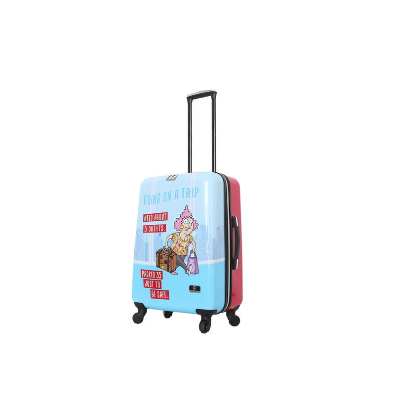 "Halina Aunty Acid Trip 24"" Spinner Suitcase - Strong Suitcases-Vegan Luggage"