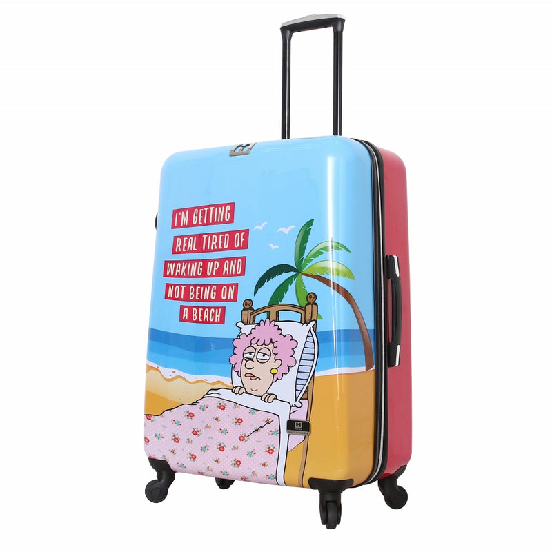 "Halina Aunty Acid Trip 28"" Spinner Suitcase - Strong Suitcases-Vegan Luggage"