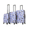 Halina Vicky Yorke Urban Jungle Cats 3 Piece Hardside Luggage Set - Strong Suitcases-Vegan Luggage