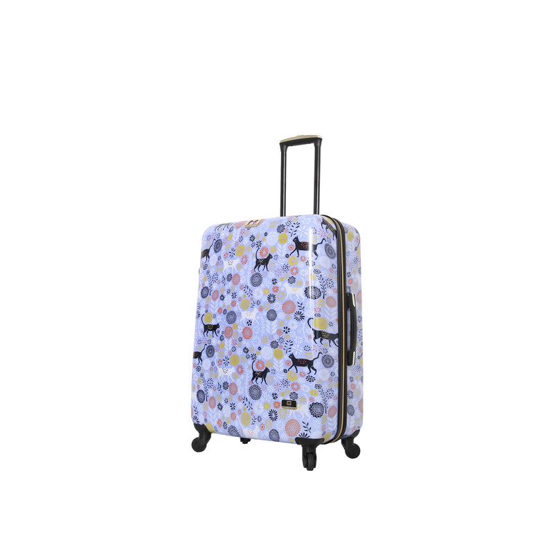 "Halina Vicky Yorke Urban Jungle Cats 20""/24""/28"" Spinner Suitcase - Strong Suitcases-Vegan Luggage"