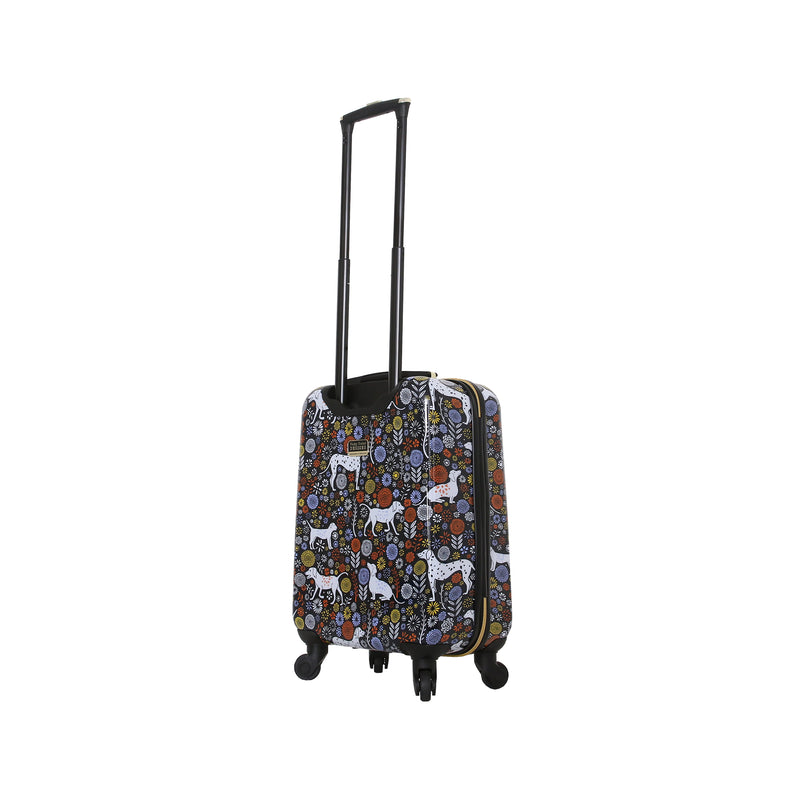 Halina Vicky Yorke Urban Jungle Dogs 3 Piece Hardside Luggage Set - Strong Suitcases-Vegan Luggage